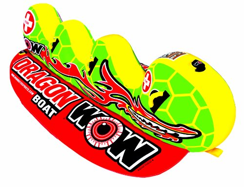 WOW World of Watersports 13-1060, Dragon Boat Inflatable Towable, Ski Tube, 3 Person