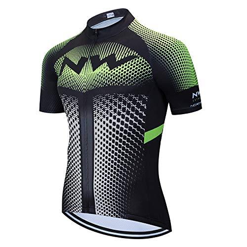 Abbigliamento Ciclismo Uomo Squadre Magliette Bici MTB Maglia per Biciclette da Strada con Tasca Abbigliamento MTB Estiva
