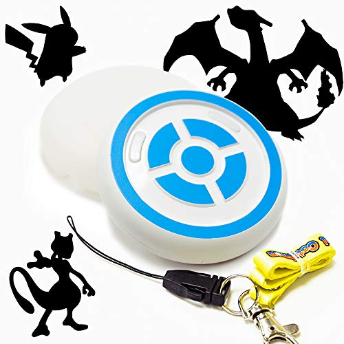 MEGACOM Pokemon Go Plus Dual Catchmon for 2 Accounts, Auto Catch, Spin, Speedy Upgrade to Earn Candy, XP & Stardust, Always on (White)