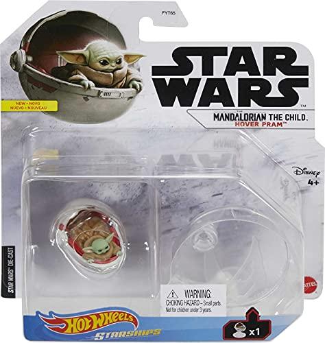 Hot Wheels Star Wars Starships - Véhicule / Voiture en métal - The Mandalorian The Child, Hover Pram
