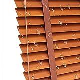 WENZHE Holzjalousie Jalousien Fenster Sichtschutz Holz Jalousette Rollos Sonnencreme Fenster Dekoration Schutz Der Privatsphäre - Klinge 3,5cm / 5cm -Größe Anpassbar (Color : 35mm, Size : 60x160cm)