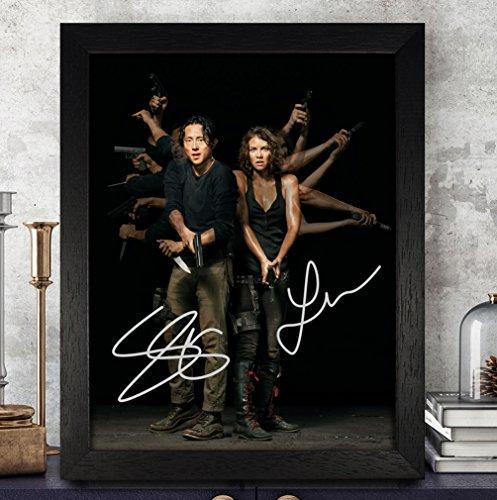 Lauren Cohan [Maggie Greene] & Steven Yeun [Glenn Rhee] Signed Autographed Photo 8X10 Reprint Rp Pp - The Walking Dead