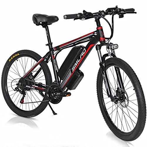 26' Bici Elettrica, Motore 500W/1000W Bicicletta elettrica a pedalata assistita con Batteria Ion Litio Rimovibile 48V 13Ah, City E-bike MTB Elettrica per Adulto Donna e Uomo