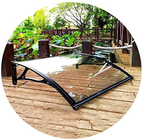 QIANMEI Tettoia Esterna pensilina da Esterno Porta Canopy Tenda 2,5 Millimetri in policarbonato Impermeabile Parasole | for Giardino Veranda Finestra
