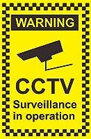 操作中のCCTV監視の警告 メタルポスタレトロなポスタ安全標識壁パネル ティンサイン注意看板壁掛けプレート警告サイン絵図ショップ食料品ショッピングモールパーキングバークラブカフェレストラントイレ公共の場ギフト