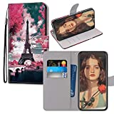 JZ Painted Wallet Funda PU Leather Flip Cover For para Xiaomi Redmi 4A - Flower and Tower