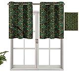 Hiiiman Cortinas opacas con ojales, cortinas cortas, cenefa ornamentadas para tomates, juego de 1, 91,4 x 45,7 cm, cortinas de cocina para sala de estar