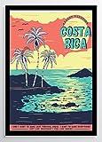Vintage Plakat Costa Rica Kunstdruck Poster ungerahmt Bild