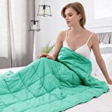Alomidds Weighted Blanket 20 lbs| 60''x80'', Queen Size, for Adults, Heavy Blanket Premium Cotton Material with Glass Beads| Spearmint Green (Spearmint Green, 20lbs-60''x80'')
