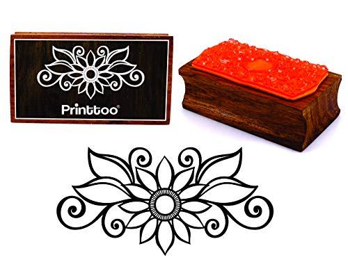 Geschenken und DIY Scrapbooking Natur-Stil Dekorative Stempel f/ür die Herstellung von Karten Kunsthandwerk NogaMoga 8 St/ück Stempel aus Holz Nat/ürlicher Blumen Motive H/ölzern Stempel Set