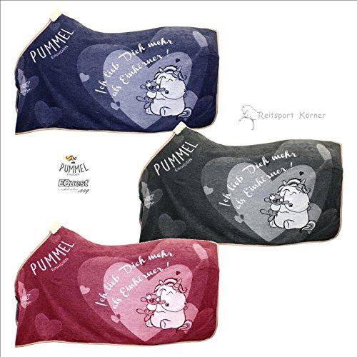 Pummeleinhorn 2.0 Dralondecke 'ich lieb Dich mehr als Einhörner', Farbe:anthrazit, Deckengröße:145