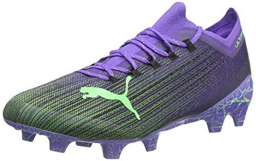 PUMA Ultra 1.1 Fear FG/AG, Scarpe da Calcio Unisex-Adulto, Viola (Luminous Purple-Elektro Green Black), 41 EU