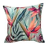 IMFFSE Almohada De Algodón De Tela Rural Tropical Jungle Sofa Cojines Almohada Art Deco De Cama Cuadrada 45 * 45 Cm,B