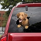 Ocean Gift Chesapeake Bay Retriever Car Decals, Dog Car Stickers Pack of 2 - Realistic Chesapeake Bay Retriever Stickers for Car Windows, Walls Series 64 Size 10' x 10'