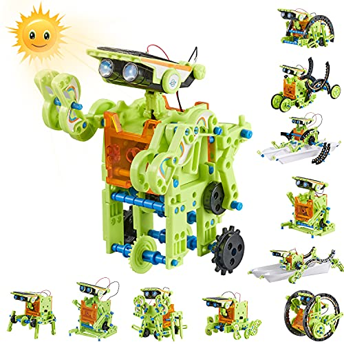 HISTOYE 12-in-1 Stem Solar Robot Building Kit for Kids 9-12 Engineering Science Kits for Boys 8-12 Solar Powered Engine Robotics for Kids 8 and up Science Experiments Toys for 10 11 12 13 Years Old