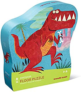 Crocodile Creek - Dinosaur - 36 Piece Jigsaw Floor Puzzle with Heavy-Duty Box for Storage, Large 20