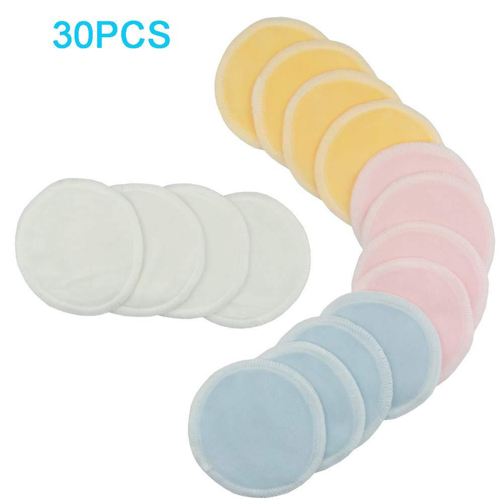 HHORD 30 Paquetes Reutilizables De Bambú Maquillaje Remover ...