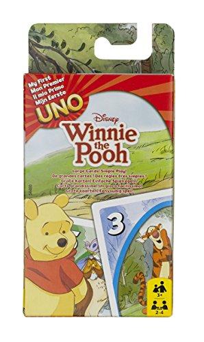 Mattel Games 54480 UNO Junior Winnie Puuh Kartenspiel für Kinder, geeignet für 2 - 4 Spieler, Spieldauer ca. 15 Minuten, ab 7 Jahren