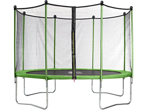 Trampolin Yoopi - Ø 3.65 m - escalera + red: Amazon.es: Jardín