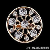 新しいフルダイヤモンドかわいいブローチフラワーショールスカーフバックルアクセサリーワイルドミニジュエリー