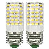 Refrigerator Light Bulb 7W LED E26 100 watt Equivalent E26 Edison Bulb Cool White 6500K Super Bright No Strobe Corn Lamp Non-Dimmable E26 Medium Base, Pack of 2