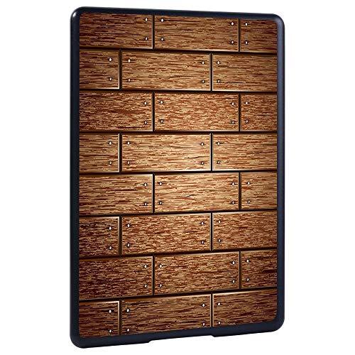 Caso Para Kindle,Cubierta De La Funda Del Casco Duro A Prueba De Golpes Para El Kindle De Amazon 10O / 8O Paperwhite 1/2/3/4 Lightweight Wood Grain Tablet Cover Shell, Tablero De Ladrillo Marrón, Pap