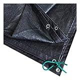 ZHANWEI Sichtschutznetz Sonnensegel 95% Beschattungsrate Verschlüsselung 8-polig Anti-UV Schwarz, Anpassbare Größe (Color : Black, Size : 2x1m)