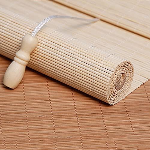 Tenda a Rullo in Bamboo Naturale,Tapparella avvolgibile bambù Tenda a Rullo in bambù retrò Tende alla Veneziana Tenda da Sole Tapparella Avvolgibile Bamboo per Casa,Ufficio,Cucina (140*180cm/55*71in)