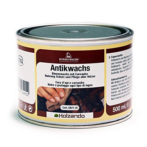 BORMA WACHS 500ml Antikwachs EN-71/3 Zertifiziert (11 - Antik braun)