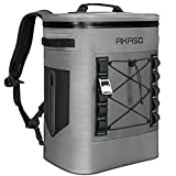 AKASO Backpack Cooler Insulated 20L Waterproof, Keeps Cool&Warm 72 Hours with 5 Layers Insulation Leakproof System, Soft Cooler Bag for Camping, Fishing, Road Tripping, Hiking, Picnicking, Beach (B1)…