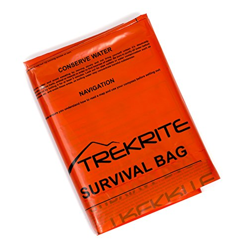 Trekrite High Visibility Emergency Survival Bivi Bag - Orange - UK Brand