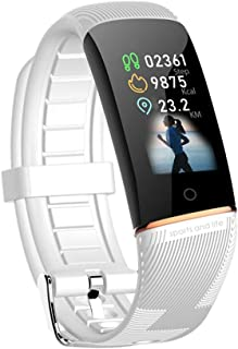 WUHUAROU Pulsera Inteligente Sport Smart Band Fitness Heart Rate Watch Impermeable Sport Smartband para iOS Android (Color : White)