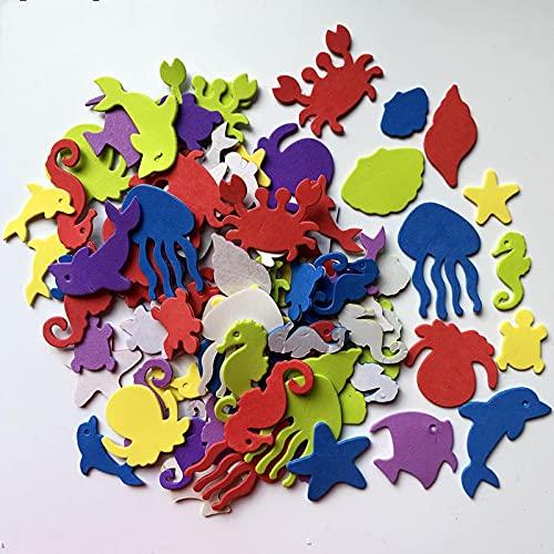 JINER Bonito Adhesivo de Espuma de Animales de Granja, Kit de álbum de Recortes de Juguete para niños, educación temprana, Manualidades de jardín de Infantes