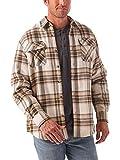 Wrangler Authentics Men's Long Sleeve Sherpa Lined Shirt Jacket, Birch, Medium