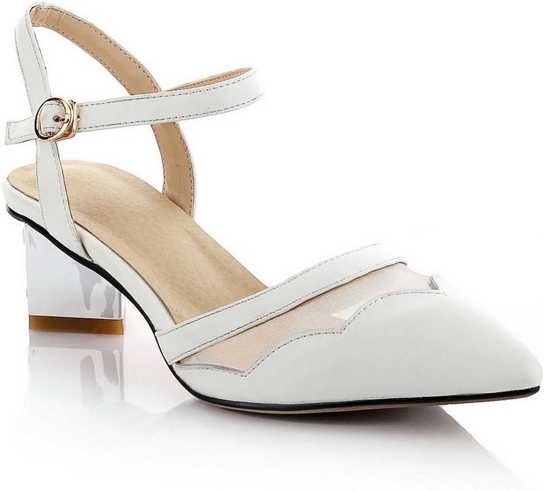 1TO9 Womens Crystal Heels Kitten-Heels Soft Material Sandals