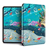 YOPM Funda para Kindle E-Reader,Compatible con Kindle Paperwhite 4 Kindle Oasis 2/3 Kindle 2019 Auto Sleep/Wake Funda Inteligente De Silicona Ligera Whale, para Pq94Wif