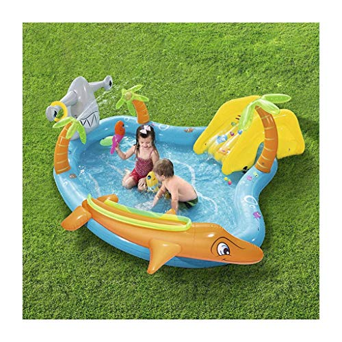 Courtyard Garden Inflatable Swimming Pool, Children's Inflatable Swimming Pool Family Interaction Summer Pool Party, Best Gifts for Children in Summer (280x257x87 cm),Summer Family Playing Water