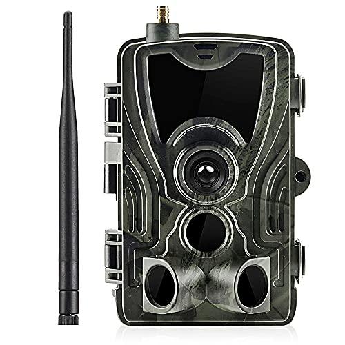 Camera de vida silvestre-4G Cámara de sendero celular inalámbrica - Camerería del juego de caza con la cámara de caza CTIVADA gratis 120 ° Monitoreo de la vida silvestre para la supervisión de la vida