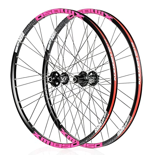 VTDOUQ Mountain bike wheel 26'/ 27.5 inch bike wheel set for MTB double wall rim QR disc brake 8-11S cassette hub sealed bearing