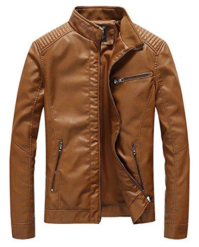 Pu Leather Jacket Men's