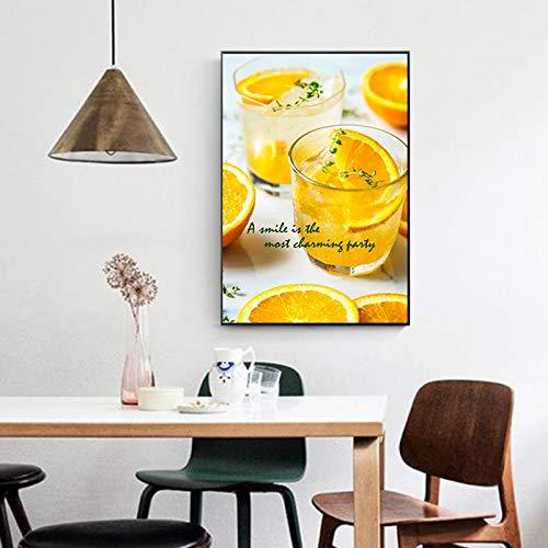 baodanla Kein Rahmen Künstler NGS, Sommer Obst Zitrone Dessert Leinwand Öl Ng, Druck Wohnung, Unternehmen Tapete30x40cm