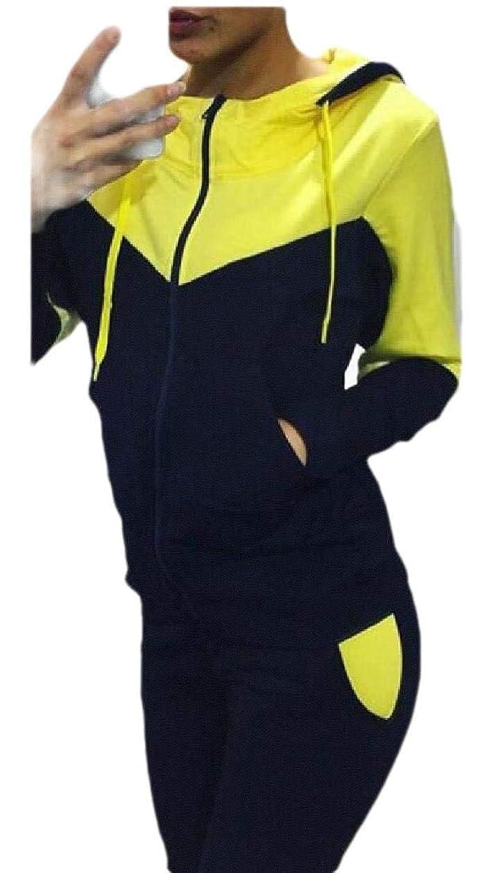 生産性歩き回るペグWomens Sport Tracksuit Set Jogger Sets Zip Up Hoodie + Pants