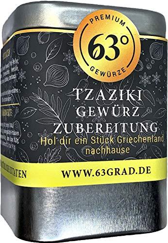 63 Grad - Tzaziki Gewürzzubereitung für leckeres, selbstgerechtes Zaziki (100g)