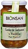Bionsan Cocido Ecológico de Garbanzos con Verduras - 6 botes de 370 gr - Total: 2220 gr