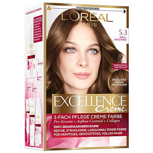 L'Oréal Paris Excellence Creme Coloration, 5,3 - Hellkastanie