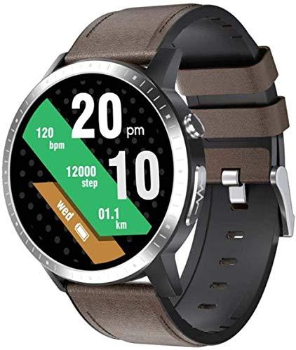 Reloj inteligente IP67 resistente al agua, con pantalla táctil completa, monitor de sueño, monitor de frecuencia cardíaca, ECG + PPG + SPO2 ECG sangre oxigeno-D