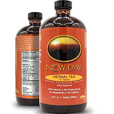 New Day Health   All-Natural 32oz Essiac Tea Extract   Handcrafted Blend Since 1995 - Premium Herbal Tea Extract   USDA Organic Ingredients to Support Immune System, Liver, and Lymphatic System by New Day Health