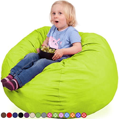 Oversized Bean Bag Chair in Spicy Lime - Machine Washable Big Soft...