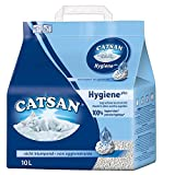 Catsan Hygiene Cat Litter, with White Hygiene Granules to Prevent Odours, 10 Litre