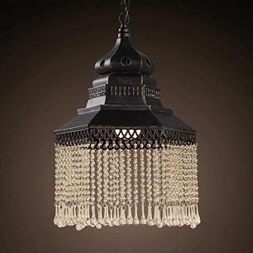Vintage kristallen kroonluchter industrieel geïnspireerde woonkamer bar caf & eacute; [ijs] [snijden] hanglamp A